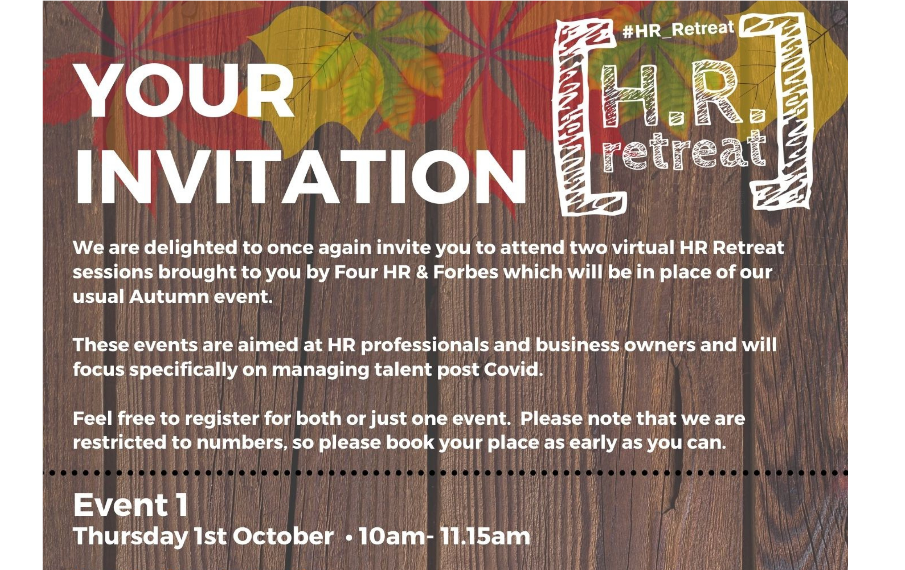 The autumn HR retreat, session one.