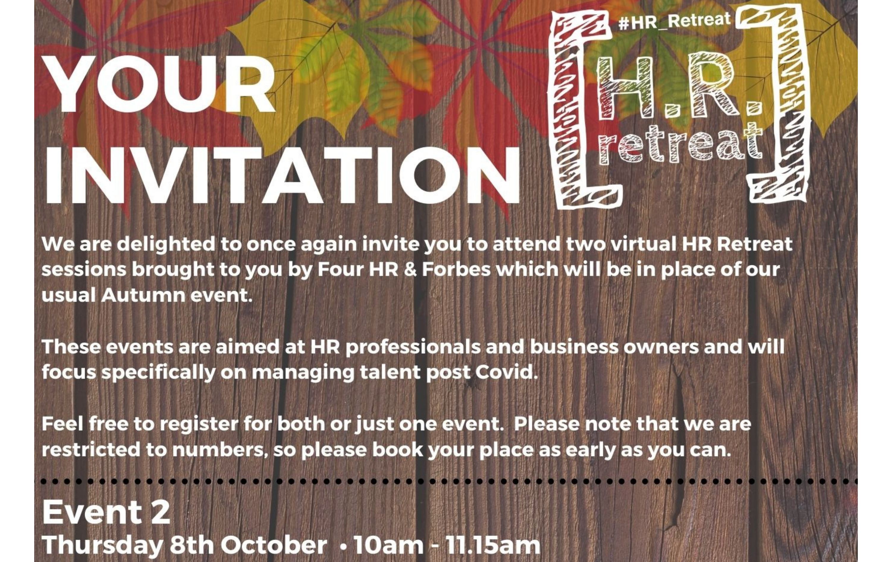 The autumn HR retreat, session two.